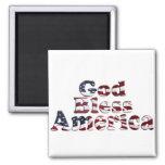 Dios bendice diseño del texto de la bandera de Amé Imanes