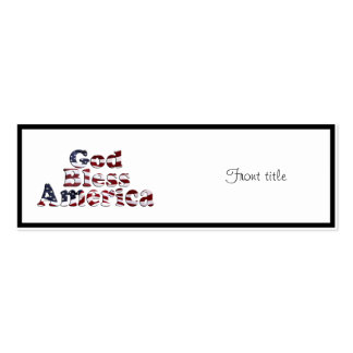 Dios bendice diseño del texto de la bandera de tarjetas de visita mini
