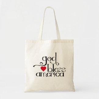 Dios bendice el bolso de América Bolsa Tela Barata