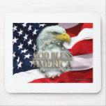 Dios bendice el cojín de ratón de América Alfombrilla De Ratón
