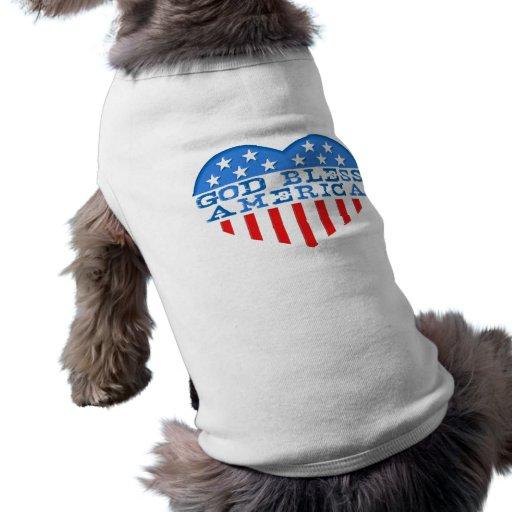 Dios bendice el corazón de América Prenda Mascota
