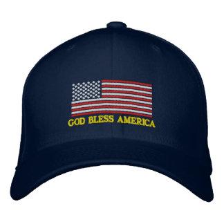 DIOS BENDICE el gorra bordado bandera de AMÉRICA l Gorro Bordado