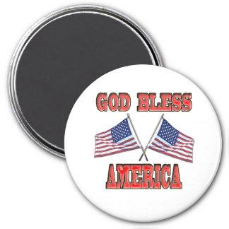 Dios bendice el imán cruzado América de las bander