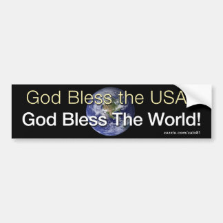 Dios bendice el mundo pegatina para auto