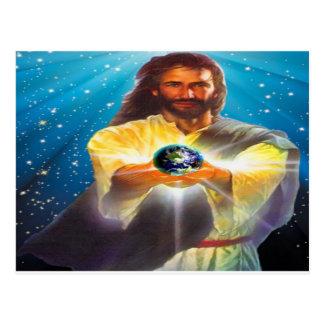 Dios bendice el mundo postal