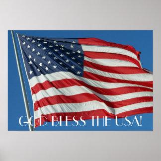 Dios bendice el poster de los E.E.U.U.