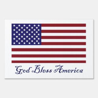 Dios bendice la bandera de América Señal