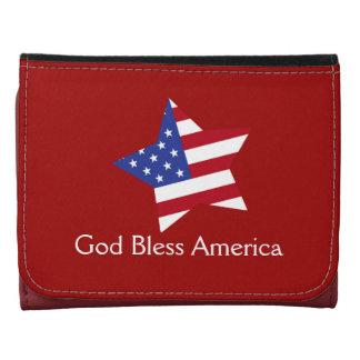 Dios bendice la bandera de la estrella de America-