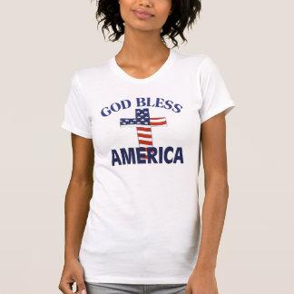 Dios bendice la cruz de América Camisetas