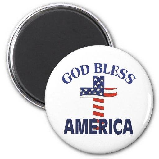 Dios bendice la cruz de América Imanes