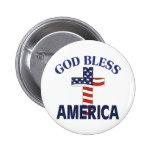 Dios bendice la cruz de América Pins