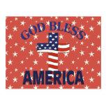 Dios bendice la cruz de América Postales