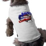 Dios bendice la ropa del mascota de América Camisas De Mascota