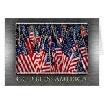 Dios bendice la tarjeta de las banderas de América