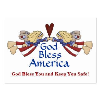Dios bendice la tarjeta de regalo de América por Tarjetas De Visita Grandes