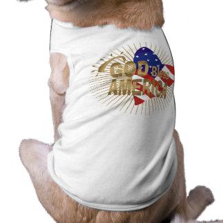 Dios bendice las camisetas y los regalos de Améric Playera Sin Mangas Para Perro