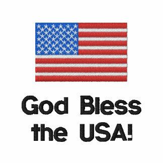 Dios bendice los E.E.U.U. Camisa del golf de la ba Polo Bordado
