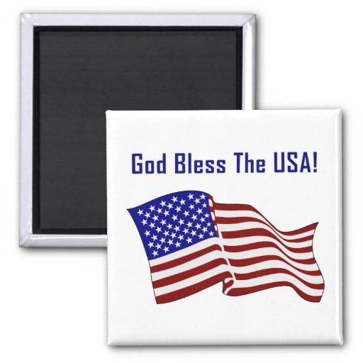 Dios bendice los E.E.U.U. Imán Cuadrado