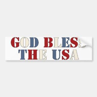 Dios bendice los E.E.U.U. Pegatina Para Auto