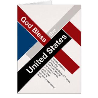 Dios bendice los Estados Unidos Tarjeta De Felicitación
