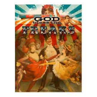 Dios bendice los monstruos 2 tarjeta postal
