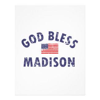 Dios bendice MADISON Membrete
