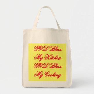 DIOS bendice mi bolso de la cocina Bolsa Tela Para La Compra