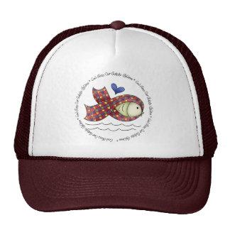 Dios bendice nuestro gorra de los niños de Autisic