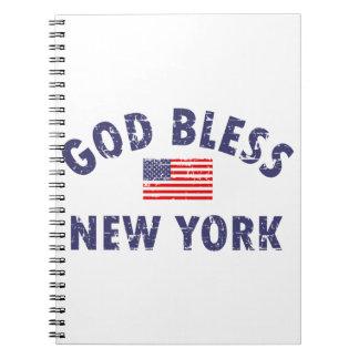 Dios bendice Nueva York Spiral Notebook