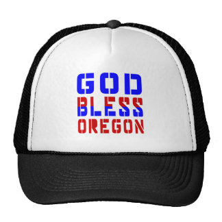 Dios bendice Oregon Gorras