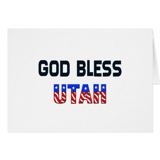 Dios bendice Utah Tarjeta De Felicitación