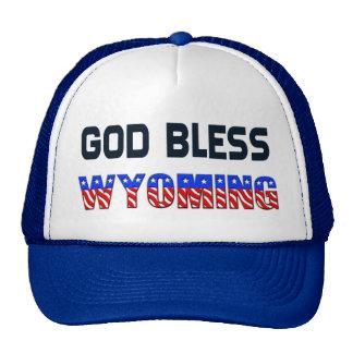 Dios bendice Wyoming Gorras De Camionero
