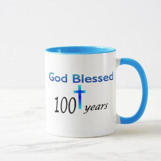 Dios bendijo 100 años de regalo de cumpleaños taza