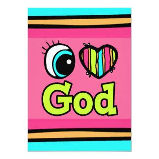 """Dios brillante del amor del corazón I del ojo Invitación 4.5"""" X 6.25"""""""