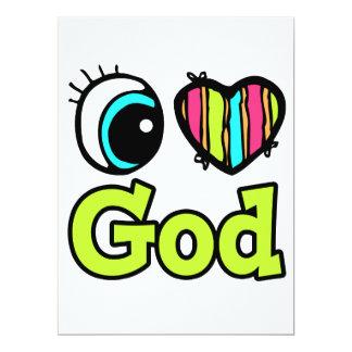 """Dios brillante del amor del corazón I del ojo Invitación 6.5"""" X 8.75"""""""