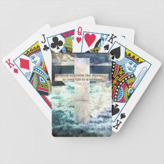 Dios calmará la tormenta en su vida a un susurro baraja de cartas