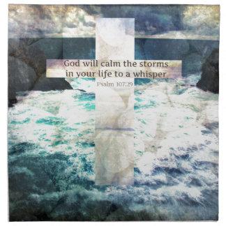 Dios calmará la tormenta en su vida a un susurro servilleta