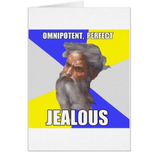 Dios celoso del duende tarjeta de felicitación