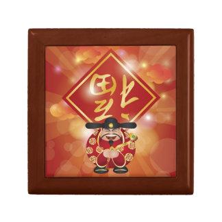 Dios chino Giftbox del dinero Cajas De Recuerdo