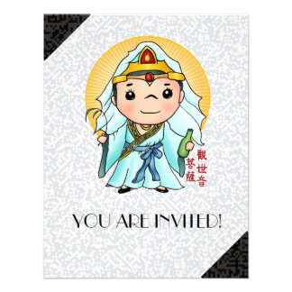 Dios chino lindo de la compasión anuncio personalizado