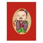 Dios chino lindo de la salud tarjeta postal