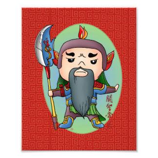 Dios chino lindo del éxito fotografia