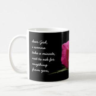 Dios color de rosa, estimado rosado taza de café