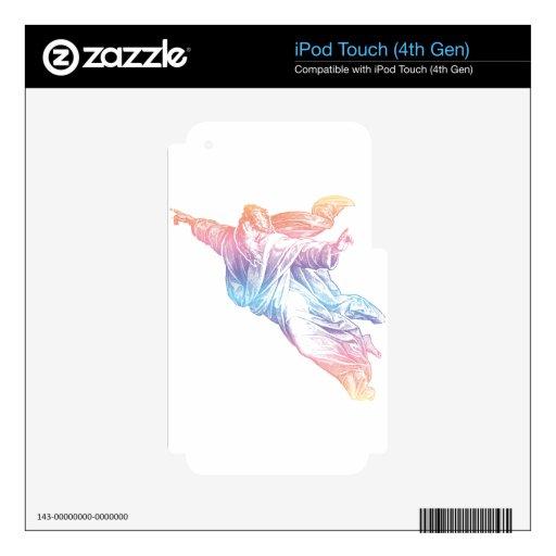 Dios colorido calcomanía para iPod touch 4G