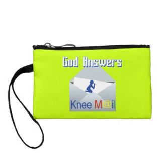 Dios contesta al monedero del correo de la rodilla