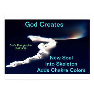 Dios crea nueva alma tarjetas postales