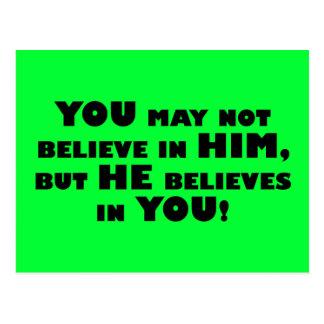 Dios cree en ateos postal