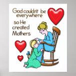 Dios creó a madres póster