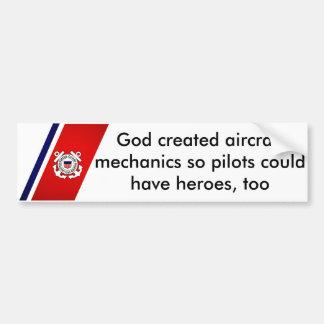 Dios creó a mecánicos de aviones pegatina para coche