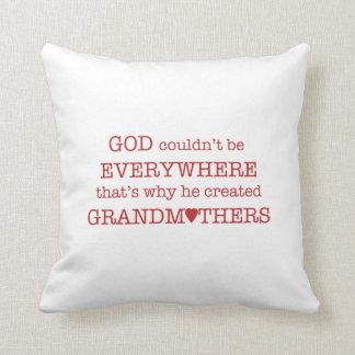 Dios creó Abuela-Rojo Cojin
